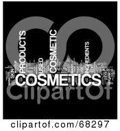 Royalty Free RF Clipart Illustration Of A Cosmetics Word Collage Version 3