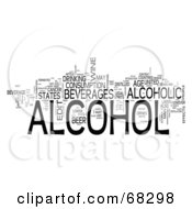Royalty Free RF Clipart Illustration Of A Word Collage Alcohol
