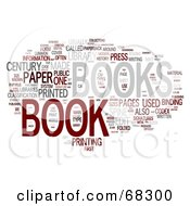 Royalty Free RF Clipart Illustration Of A Book Word Collage Version 1