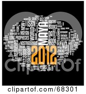 Royalty Free RF Clipart Illustration Of A Year Of 2012 Word Collage On Black