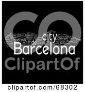 Royalty Free RF Clipart Illustration Of A Barcelona Word Collage Version 1