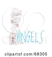 Royalty Free RF Clipart Illustration Of An Angels Word Collage Version 2