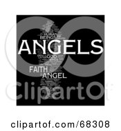 Royalty Free RF Clipart Illustration Of An Angels Word Collage Version 3