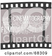 Royalty Free RF Clipart Illustration Of A Cinematography Word Collage Version 1