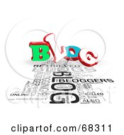 Royalty Free RF Clipart Illustration Of A Blog Word Collage Version 4