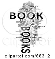 Royalty Free RF Clipart Illustration Of A Book Word Collage Version 3
