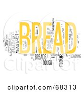 Royalty Free RF Clipart Illustration Of A Bread Word Collage Version 2