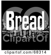 Royalty Free RF Clipart Illustration Of A Bread Word Collage Version 1