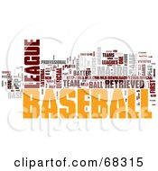 Royalty Free RF Clipart Illustration Of A Baseball Word Collage Version 3