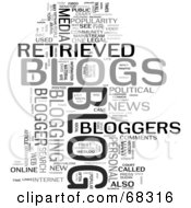 Royalty Free RF Clipart Illustration Of A Blog Word Collage Version 1