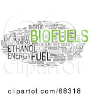 Royalty Free RF Clipart Illustration Of A Biofuels Word Collage Version 2