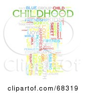 Royalty Free RF Clipart Illustration Of A Childhood Word Collage