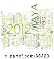 Royalty Free RF Clipart Illustration Of A Green Year Of 2012 Word Collage On White