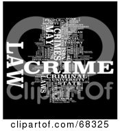 Royalty Free RF Clipart Illustration Of A Crime Word Collage Version 4