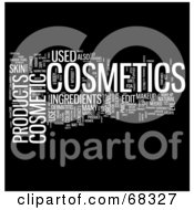 Royalty Free RF Clipart Illustration Of A Cosmetics Word Collage Version 2