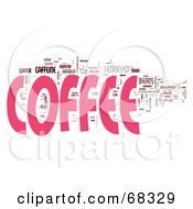 Royalty Free RF Clipart Illustration Of A Word Collage Coffee by MacX