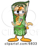 Clipart Picture Of A Green Carpet Mascot Cartoon Character Whispering And Gossiping