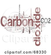 Royalty Free RF Clipart Illustration Of A Carbon Dioxide Word Collage Version 5