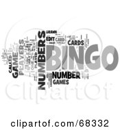 Royalty Free RF Clipart Illustration Of A Bingo Word Collage Version 1