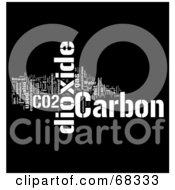 Royalty Free RF Clipart Illustration Of A Carbon Dioxide Word Collage Version 1