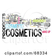 Royalty Free RF Clipart Illustration Of A Cosmetics Word Collage Version 5