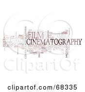 Royalty Free RF Clipart Illustration Of A Cinematography Word Collage Version 5