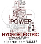 Royalty Free RF Clipart Illustration Of A Hydroelectric Word Collage Version 1