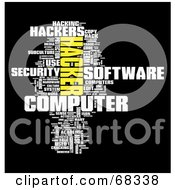 Royalty Free RF Clipart Illustration Of A Hacker Word Collage Version 3
