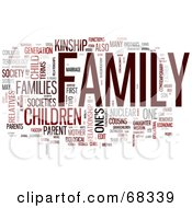 Royalty Free RF Clipart Illustration Of A Family Word Collage Version 2