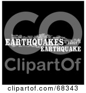 Royalty Free RF Clipart Illustration Of An Earthquake Word Collage Version 2