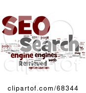 Royalty Free RF Clipart Illustration Of A SEO Word Collage Version 4