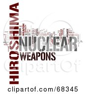 Royalty Free RF Clipart Illustration Of A Hiroshima Word Collage Version 1