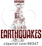 Royalty Free RF Clipart Illustration Of An Earthquake Word Collage Version 1