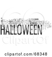 Royalty Free RF Clipart Illustration Of A Halloween Word Collage Version 3