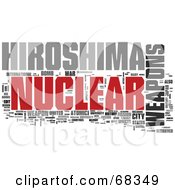 Royalty Free RF Clipart Illustration Of A Hiroshima Word Collage Version 3