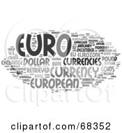Royalty Free RF Clipart Illustration Of A Euro Word Collage Version 2 by MacX
