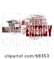 Royalty Free RF Clipart Illustration Of A Renewable Energy Word Collage Version 2