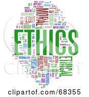 Royalty Free RF Clipart Illustration Of An Ethics Word Collage Version 1