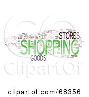 Royalty Free RF Clipart Illustration Of A Shopping Word Collage Version 1
