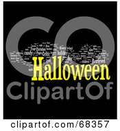 Royalty Free RF Clipart Illustration Of A Halloween Word Collage Version 6