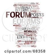 Royalty Free RF Clipart Illustration Of A Forum Word Collage