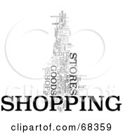 Royalty Free RF Clipart Illustration Of A Shopping Word Collage Version 2