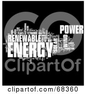 Royalty Free RF Clipart Illustration Of A Renewable Energy Word Collage Version 1