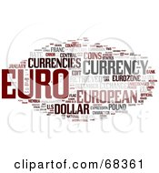 Royalty Free RF Clipart Illustration Of A Euro Word Collage Version 3 by MacX