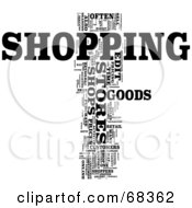 Royalty Free RF Clipart Illustration Of A Shopping Word Collage Version 4