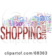 Royalty Free RF Clipart Illustration Of A Shopping Word Collage Version 3