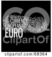 Royalty Free RF Clipart Illustration Of A Euro Word Collage Version 5 by MacX
