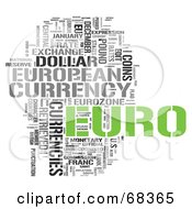 Royalty Free RF Clipart Illustration Of A Euro Word Collage Version 4 by MacX