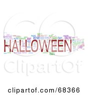 Royalty Free RF Clipart Illustration Of A Halloween Word Collage Version 1