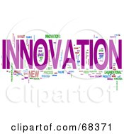 Royalty Free RF Clipart Illustration Of An Innovation Word Collage Version 3